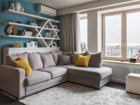Идеи дизайна гостиной с угловым диваном (60+ фото)