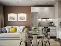 Дизайн кухни-гостиной в современном стиле (60+ фото)