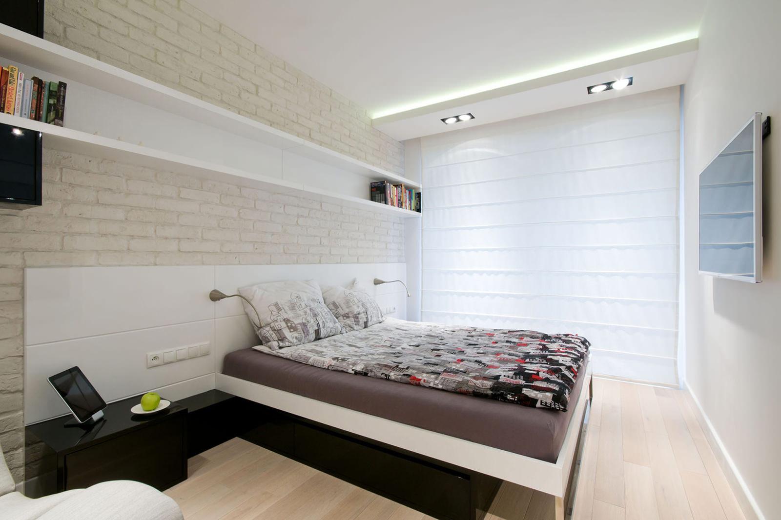 дизайн спальни в светлых тонах 7