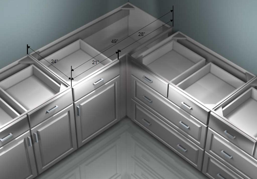 Revit kitchen corner cabinet