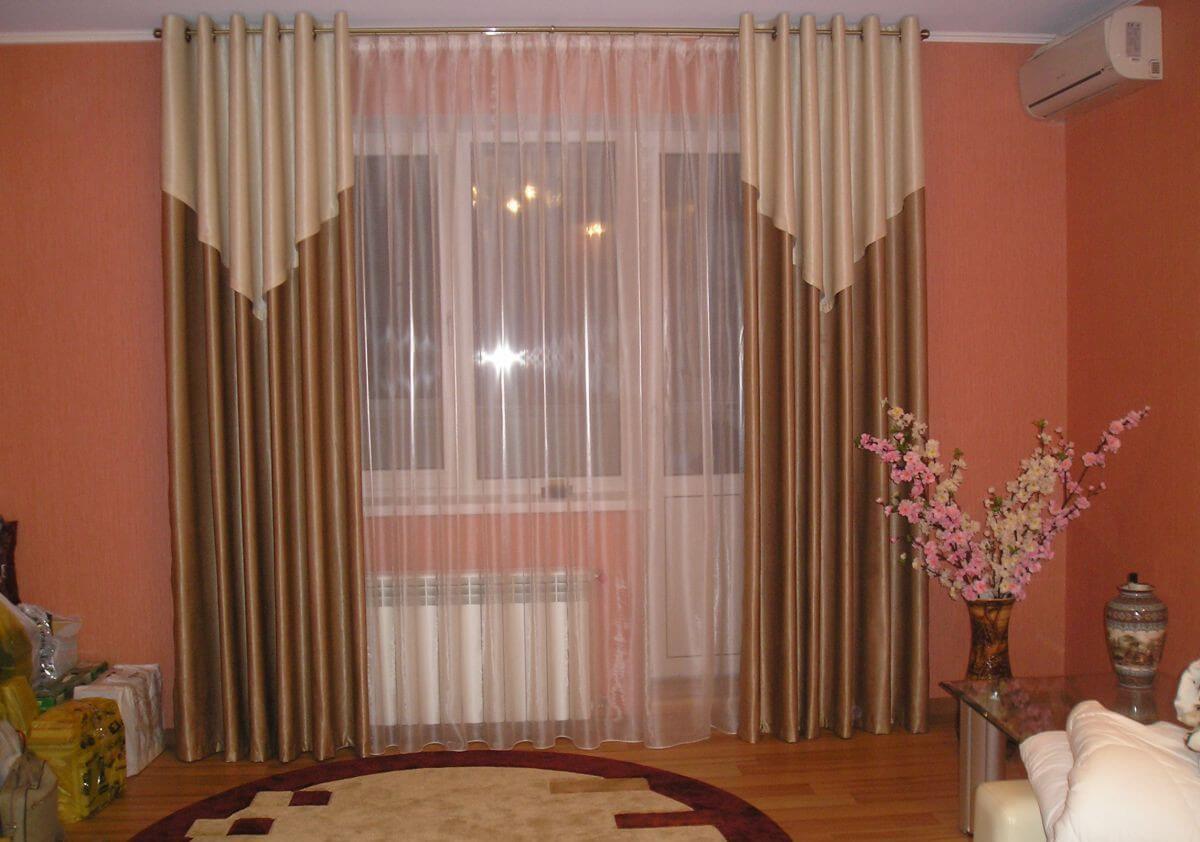 дизайн штор для зала 5