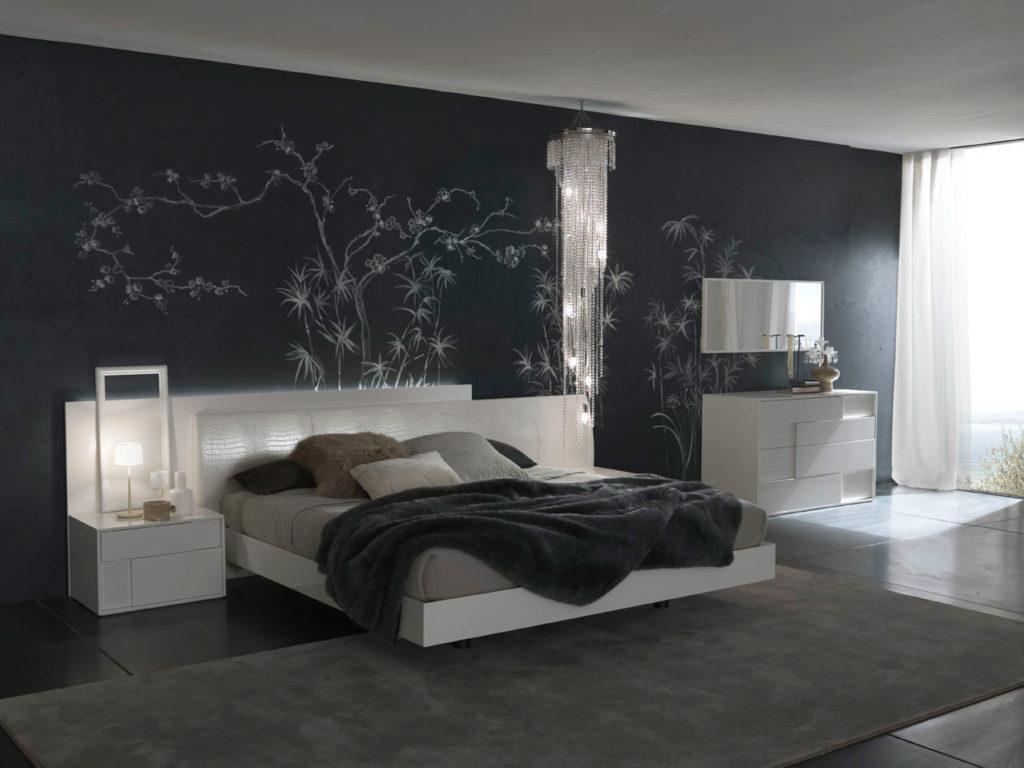 дизайн обоев для спальни 1