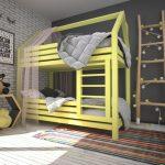 двухъярусная кровать в детскую комнату фото