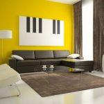 гостиная в светло-желтых тонах
